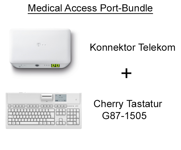 Medical Access Port Bundle Cherry grau